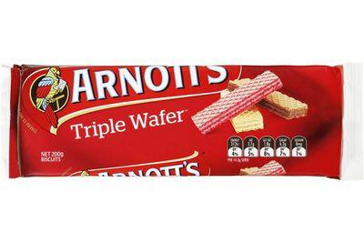 Triple Wafer: 37 calories/156kj per biscuit