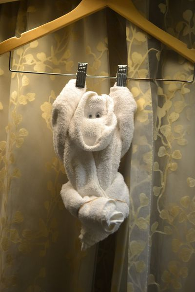 There were also towel monkeys.