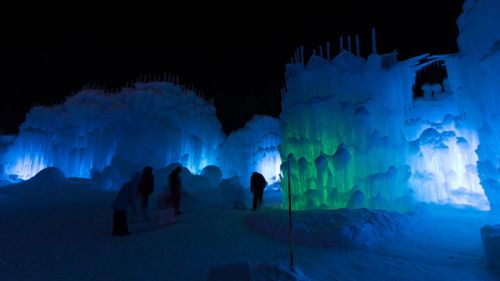 LED lights are used to highlight the ice displays. (Michael N Sutton)