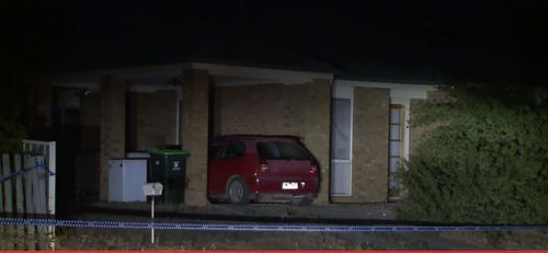 Emergency services found the woman dead when they arrived at the home last night. (9NEWS)