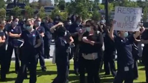More than 150 nurses and midwives went on strike yesterday.