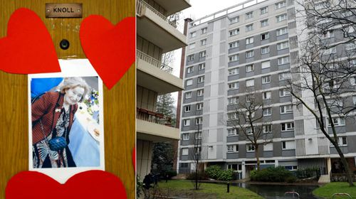 Neighbours from the public housing apartment complex have pinned tributes to Mireille Knoll. (Photos: AP).