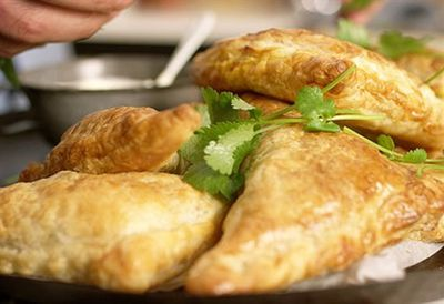 Curry puff pastry parcels