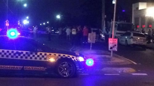 Police at the scene of the shooting at Brunswick in Melbourne's north. (Joe Crawshaw/Twitter)