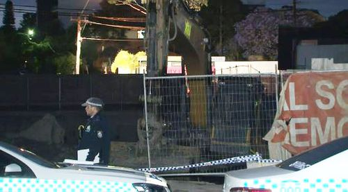 Man's body found in bucket of excavator at Homebush construction site