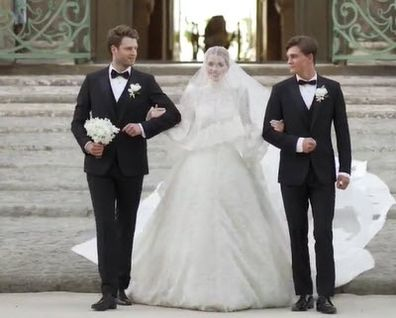 Lady Kitty Spencer was walked down the aisle by brothers Louis Spencer, Viscount Althorp and Samuel Aitken.