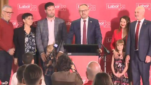 Chief Minister Andrew Barr is speaking at ACT Labor's election night event