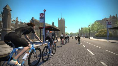 Zwift takes you through several locations around the world, including London.