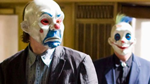 The man's mask appeared to resemble those worn in Batman film The Dark Knight. (AAP)