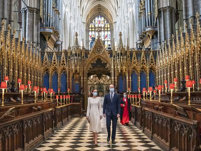 Prince William and Kate Middleton at Westminster Abbey, March