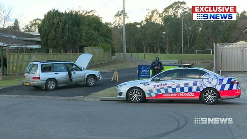 The man eventually dumped the vehicle near a reserve. Picture: 9NEWS
