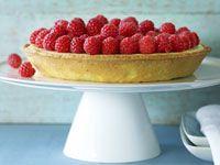 Raspberry and ricotta tart