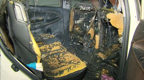 Neighbours pulled the boys from the burning car. (9NEWS)