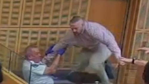 , Dramatic moment prisoner jumps dock in Adelaide courtroom,