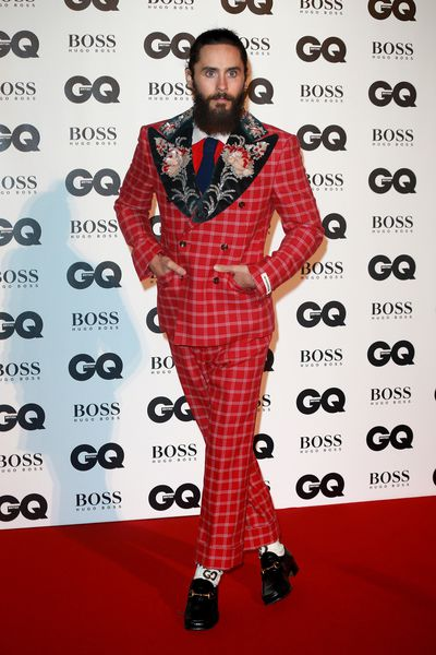 Jared Leto in Gucci at the British GQ Men of the Year Awards
