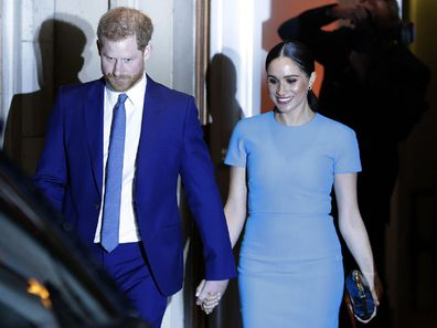Prince Harry Meghan Markle leave the Endeavour Fund Awards in London on March 5 2020.