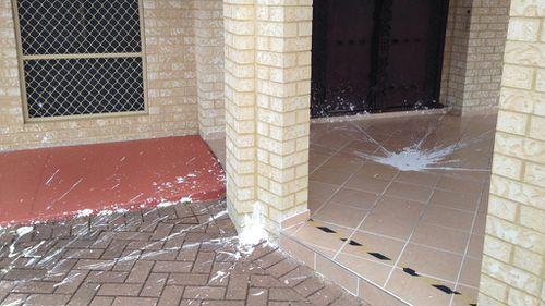 No anti-Islamic slogans were sprayed on the building. (9NEWS)