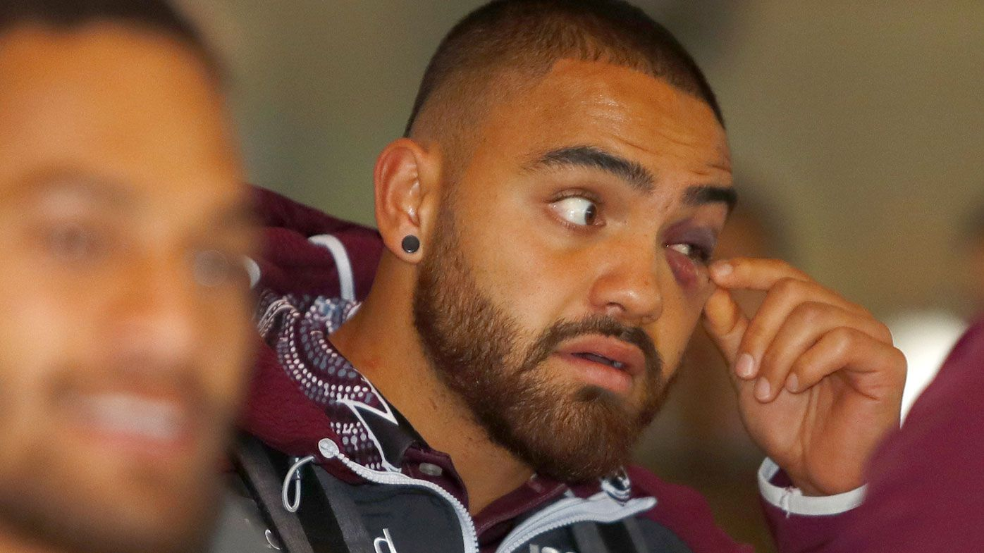 NRL: Manly Sea Eagles' Dylan Walker man-handled from field with no medicab available