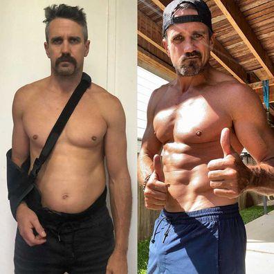 Lee Carseldine's body transformation.