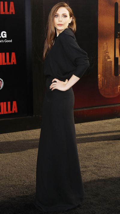 In a Chloé gown at the <i>Godzilla</i> premiere.