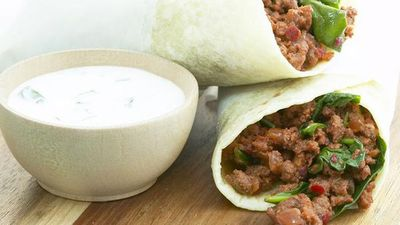 "Recipe:&nbsp;<a href=""http://kitchen.nine.com.au/2016/05/18/02/20/tandoori-chapatti-wraps-with-coriander-yoghurt"" target=""_top"" draggable=""false"">Tandoori chapatti wraps with coriander yoghurt<br /> </a>"