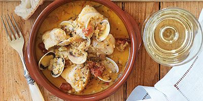 Fish & clam stew with picada