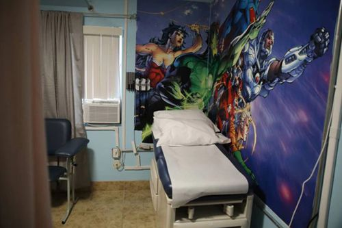 A medical room inside the Casa Padre Shelter in Brownsville, Texas. Picture: AAP