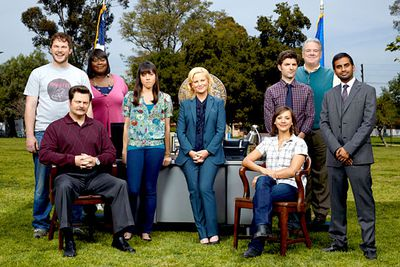 <B>What to recommend:</B> <I>Parks and Recreation</I>. Recommending this funny and charming sitcom — starring comedy goddess Amy Poehler as a council worker in small-town America — will make your crush think you are also funny and charming. It's a win for everyone!<br/><br/><B>Back-up recommendation:</B> <I>Entourage</I>.