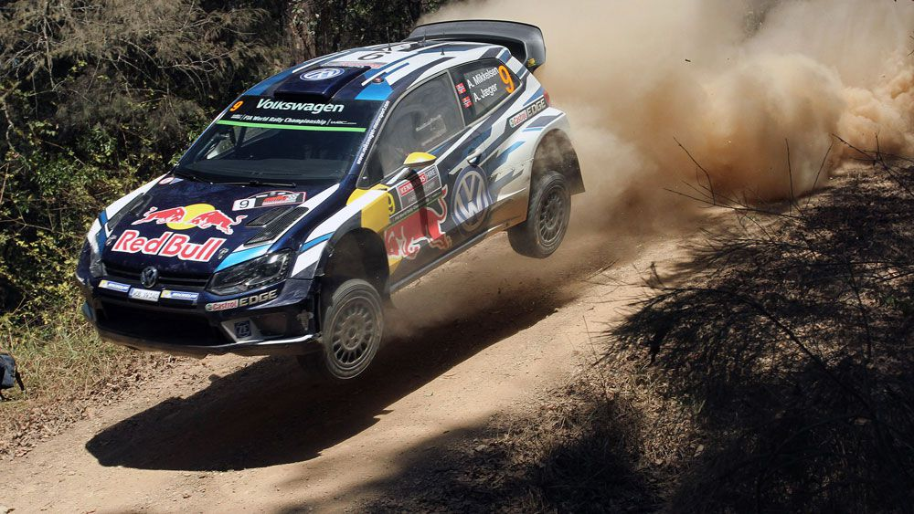 Andreas Mikkelsen claimed a win in Rally Australia. (AAP)