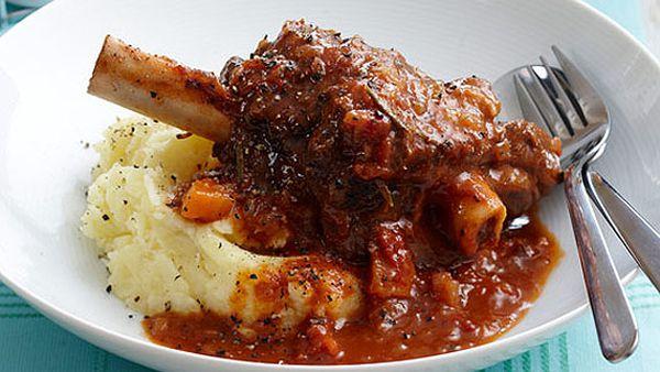 "Recipe:<strong> <a href=""/recipes/ilamb/8350414/slow-cooked-lamb-shanks"" target=""_top"" draggable=""false"">Slow-cooked lamb shanks</a></strong>"