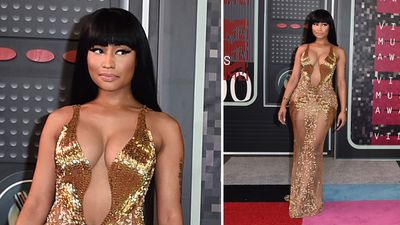 While MTV VMAs host Miley Cyrus easily claims the crown for the most eye-catching outfits of the evening, plenty of other celebrities have sparkled too. Nicki Minaj in an eye-catching gold number that left little to the imagination. (AAP) Click through the gallery to see some of the best and worst dressed.