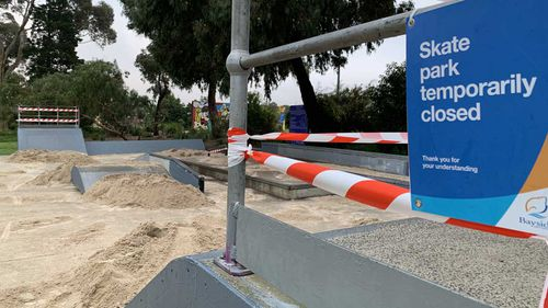Bayside Council has filled in skate parks with sand and tanbark to stop people from using them.
