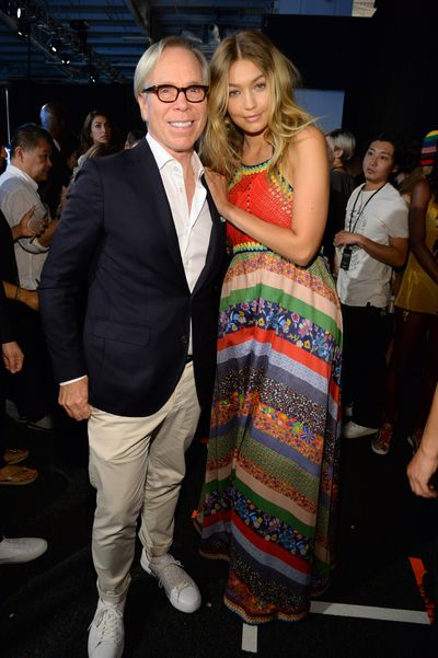 Tommy Hilfiger and Gigi Hadid backstage.