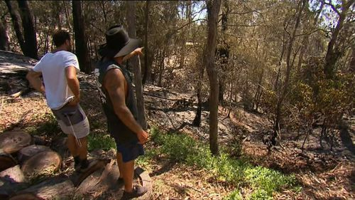 A mature eucalyptus forest bordering their properties helped feed the fire. (9NEWS)