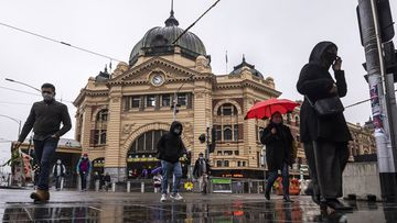 Flinders Street Station as lockdown restrictions ease on in Melbourne, Australia.
