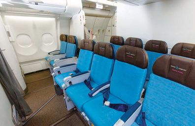 Hawaiian Airlines Extra Comfort cabin on A330