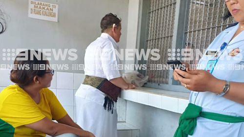Renae Lawrence attended a Hindu ceremony inside Bangli jail today.