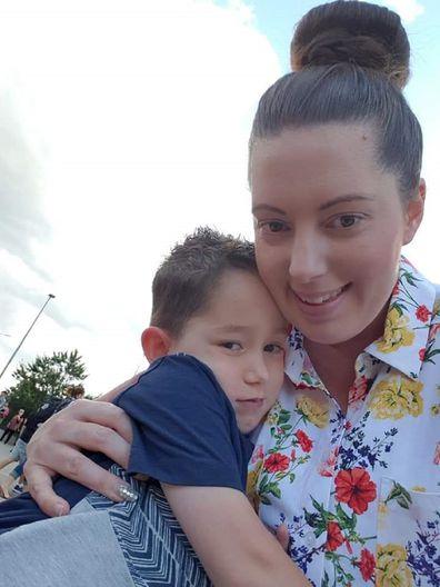 William with his mum Naomi.
