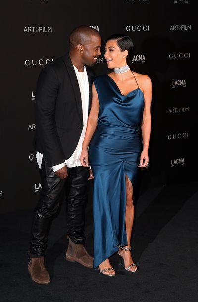 Kanye West  and Kim Kardashian West attend the 2014 LACMA Art + Film Gala, November 2014