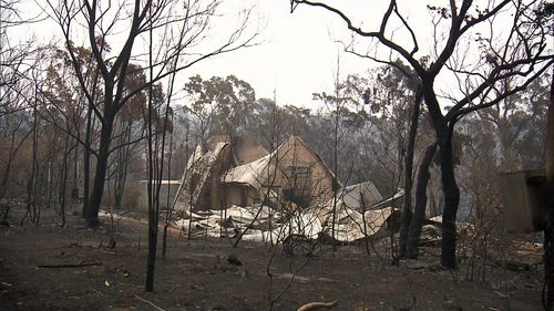 Mr Wood's neighbour, who is also a firefighter, lost his home in the Balmoral blaze while he was helping protect other properties from the flames.