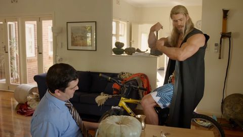 Chris Hemsworth's Thor doesn't need a job because of his muscles
