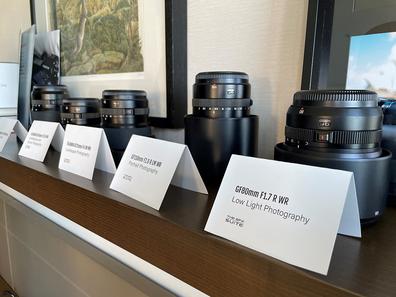 Fujifilm camera lenses at Park Hyatt photography experience
