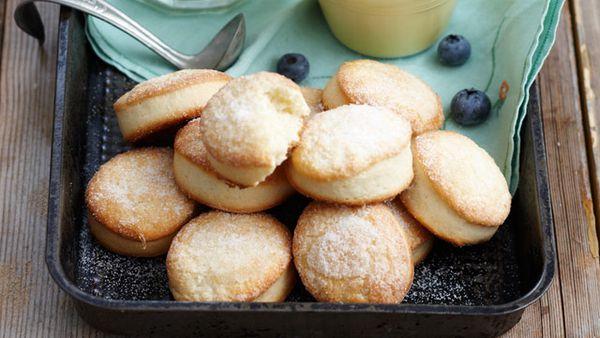 Blueberry shortcakes