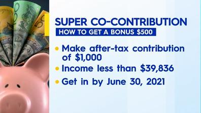 How to get a bonus $500 in super.