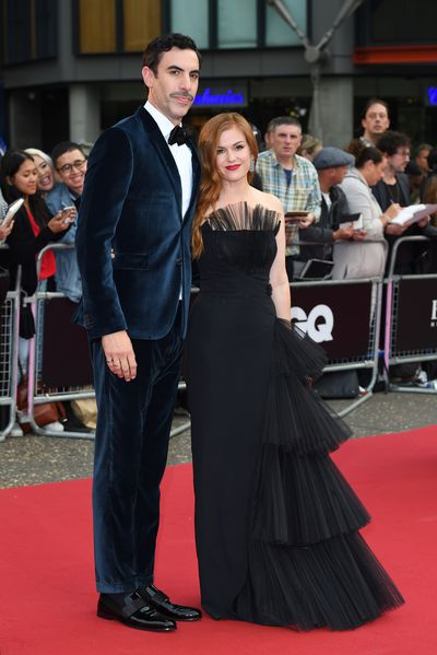 Actress Isla Fisher and Sacha Baron Cohen at the 2018 GQ Men of the Year Awards