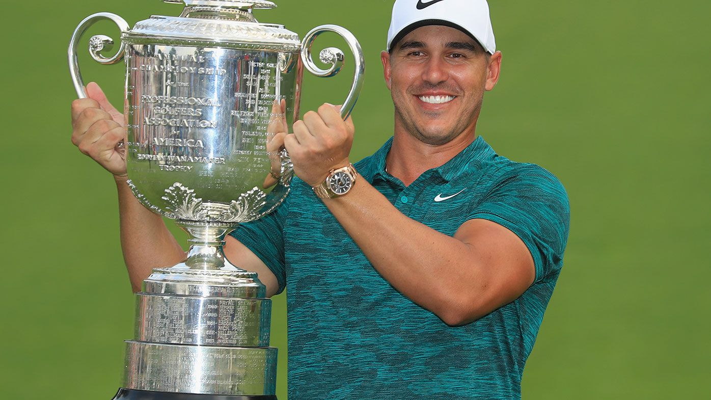Koepka holds off Woods and Scott in thrilling US PGA