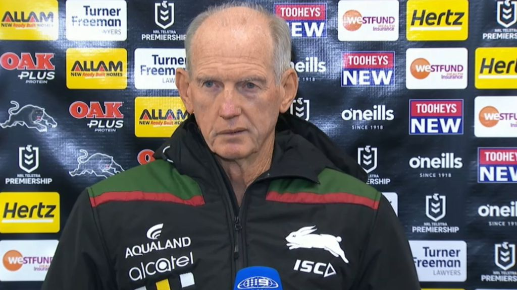 Fuming Wayne Bennett in no mood to talk after South Sydney's loss to Penrith