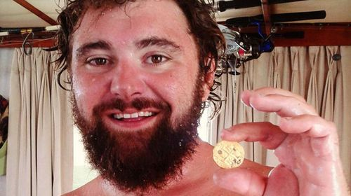 Eric Schmitt with once of his gold treasure finds. (Supplied)