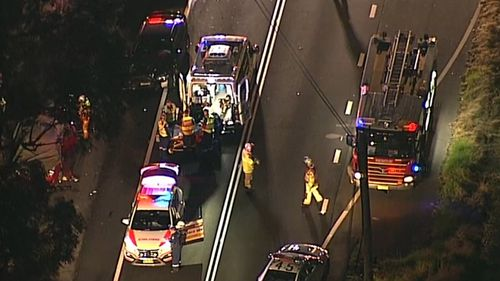 Police are now investigating the cause of the crash. Picture: 9NEWS.
