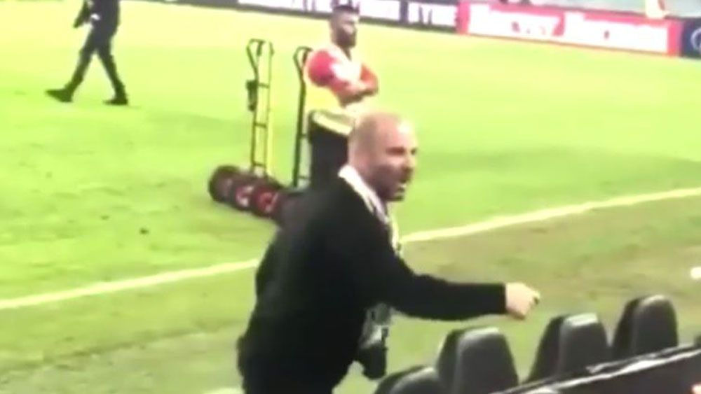Police investigate George Calombaris' heated altercation with fan at A-League grand final